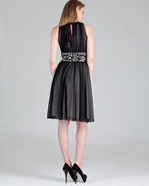 Boutique Embellished Keyhole Dress