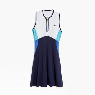Lacoste Womens SPORT Colorblock Stretch Jersey Dress