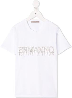 Ermanno Scervino crystal-embellished crew neck T-shirt