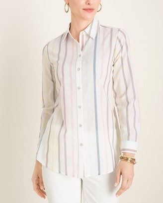 Chico's Multi-Colored Striped Shirt