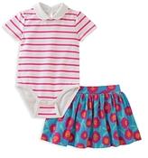 Kate Spade Girls' Jess Striped Bodysuit & Skirt Set - Baby