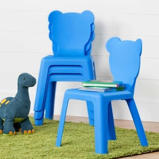 South Shore Crea Kids' Plastic Stacking Chairs, 4-Pack, Multiple Colors