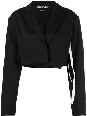 Jacquemus La veste Santon cropped suit jacket