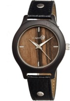 Earth Wood Tannins Leather-band Watch.