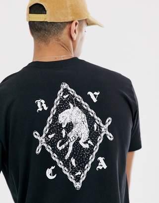 RVCA Tiger printed t-shirt in black
