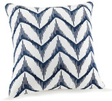 Trina Turk 18x18 Hollyhock Ikat Pillow - Blue/White