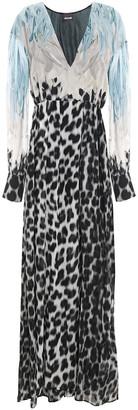 Just Cavalli Leopard-print Chiffon Maxi Dress