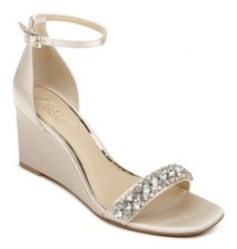 Badgley Mischka Women's Peggy Wedge Evening Sandal Women's Shoes