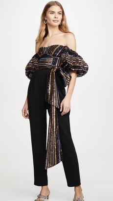 Self-Portrait Stripe Sequin Jumpsuit
