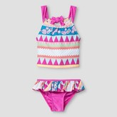 Floatimini Floatmini Toddler Girls' Aztec Tankini 2-Piece Set - Pink Pastel