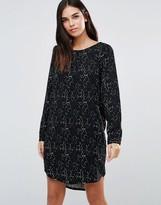 Ichi Long Sleeve Printed Dress