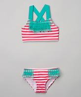 Pink Platinum Pink Stripe Bikini - Infant