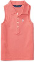 Ralph Lauren Salmon Berry Mesh Sleeveless Polo - Toddler & Girls