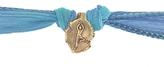 Catherine Michiels Jai Ram Bronze Charm & Silk Bracelet Wrap