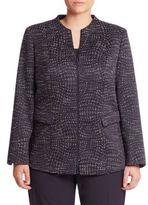 Lafayette 148 New York, Plus Size Jaylan Tweed Jacket