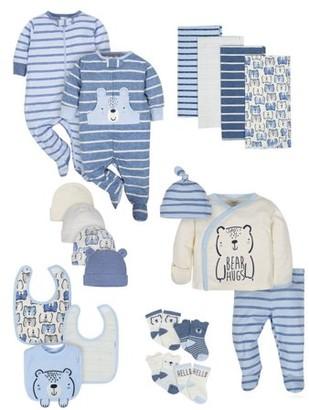 Gerber Baby Boy Organic Newborn Clothes Shower Gift Set, 20-Piece