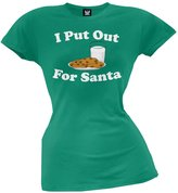 Tee's Plus I Put Out For Santa Juniors T-Shirt