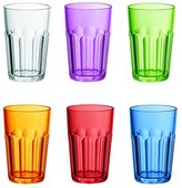 Guzzini 07230652 Plastic Glasses 6-Piece Set Highly Polished