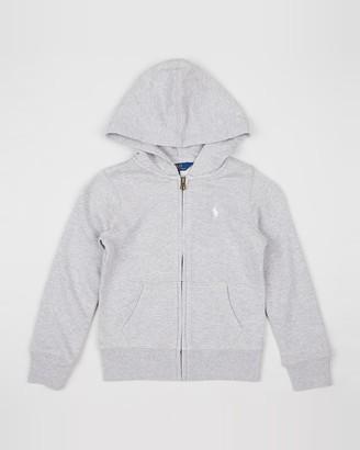 Polo Ralph Lauren Girl's Grey Hoodies - Full Zip Hoodie - Teens - Size S (Kids) at The Iconic