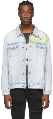 Ksubi Blue and Yellow Denim OH G Jacket
