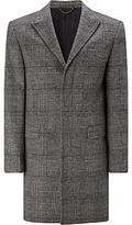 John Lewis Black And White Check Coat, Black/white