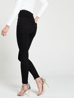 Very Macy High Waisted Skinny Jeans - Black