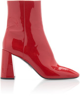 Prada Patent-Leather Ankle Boot