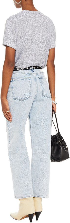 Thumbnail for your product : Rag & Bone Ruth Chain-embellished Distressed High-rise Straight-leg Jeans