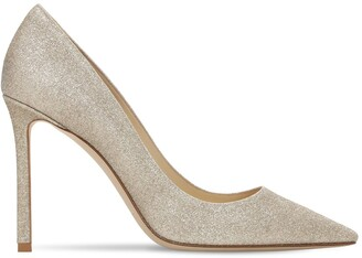Jimmy Choo 100mm Romy Fine Glitter Pumps