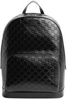 Gucci Men's Embossed Leather Backpack - Black