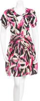 Zac Posen Ruched Knee-Length Sheath Dress