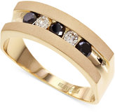 Effy Men's Black and White Diamond Band in 14k Gold (1/2 ct. t.w.)
