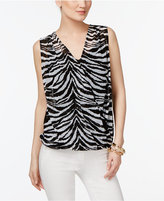 INC International Concepts Faux-Wrap Top, Only at Macy's