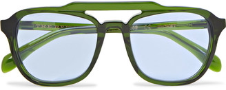 The Reference Library - Mickey Aviator-Style Acetate Sunglasses - Men - Green
