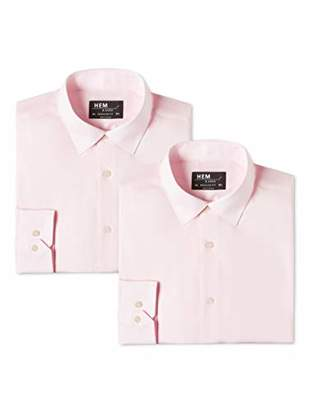 find. Regular Fit Shirt with Classic Collar Formal,Pack of 2