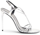 Saint Laurent Robin Metallic Snakeskin Pumps