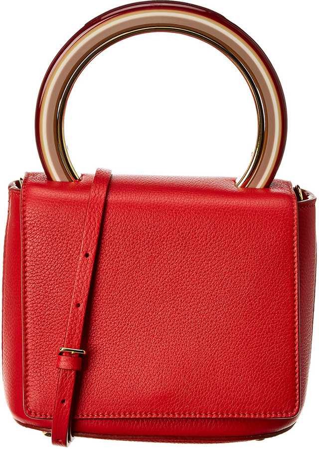 Marni Pannier Leather Flap Tote