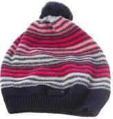 Armani Junior Girls' Knit Striped Beanie