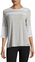 Ivanka Trump Mesh Sleeve T-Shirt