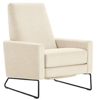 Design Within Reach Flight Recliner, Offwhite Fabric