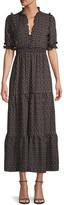 Max Studio Print Long Peasant Dress