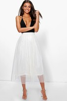 Boohoo Tall Emily Boutique Tulle Mesh Midi