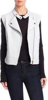 Yves Salomon Women's Leather Plunge Vest
