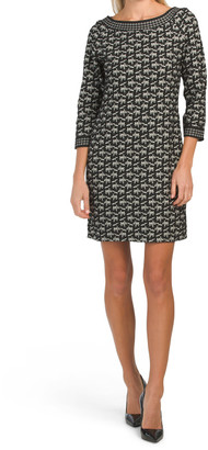 Short Shift Double Knit Dress