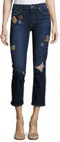 Paige Jacqueline Patch Straight Leg Jeans, Indigo