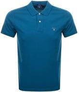 Gant Oxford Pique Rugger Polo T Shirt Blue