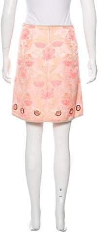 Clover Canyon Jacquard Mini Skirt w/ Tags