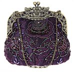 Janeyer® Janeyer Retro Women Floral Embroidery Bridal Handbag Cocktail Purse Shoulder Bag 18x8x16cm