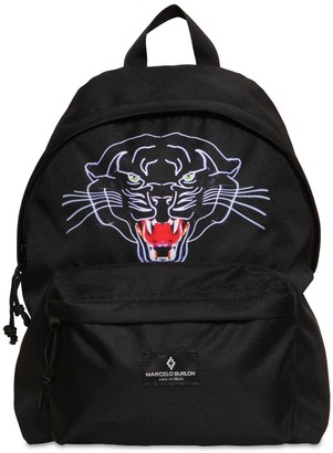 Marcelo Burlon County of Milan Panther Printed Nylon Canvas Backpack