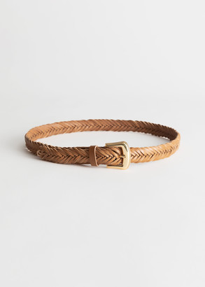 And other stories Braided Leather Belt